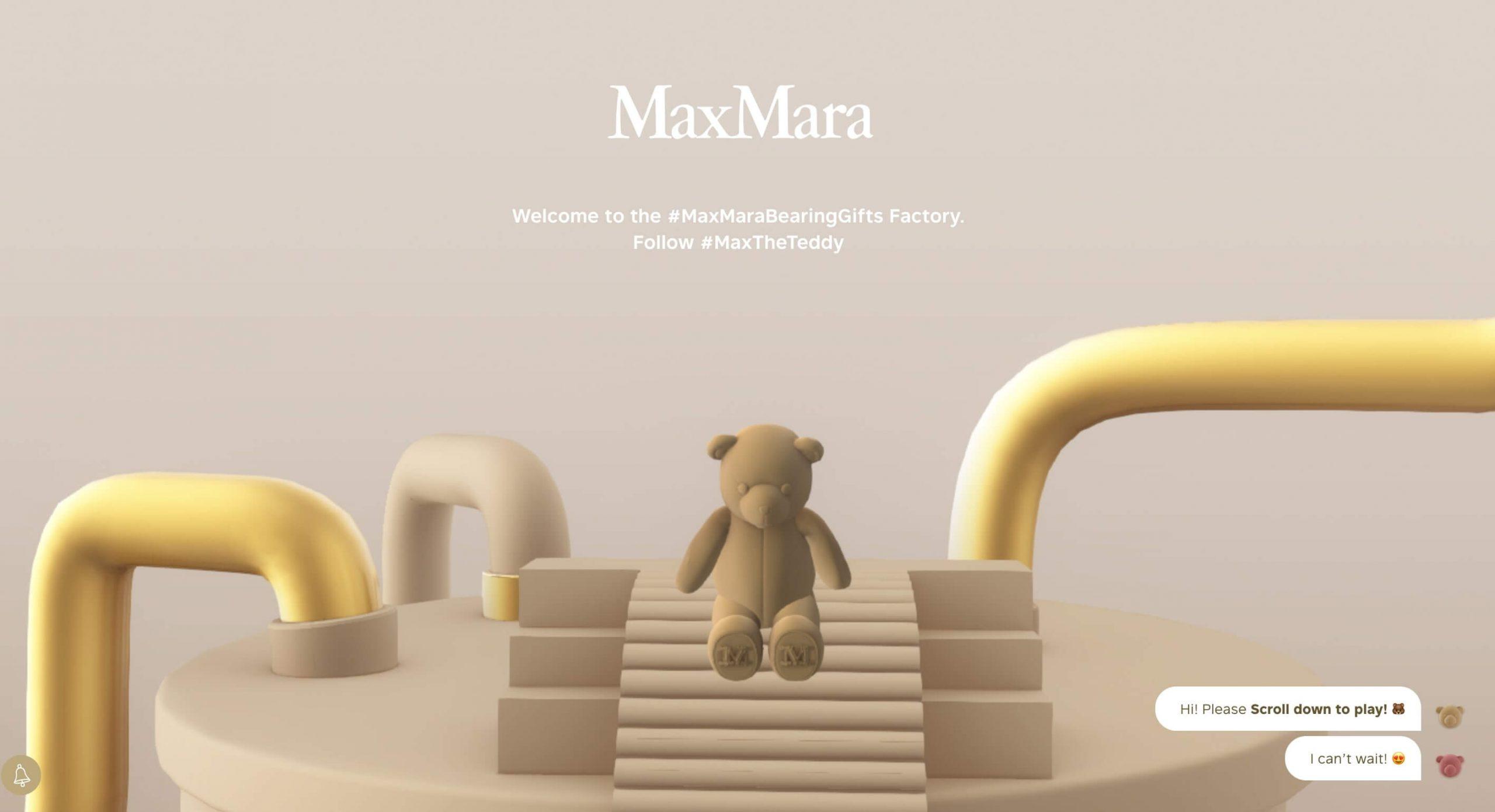 Home page du site Maxmara Bearing Gift