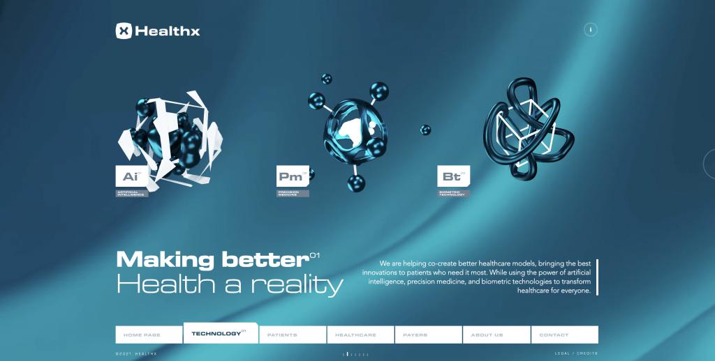 Motion design : exemple de motion 3D : atomes