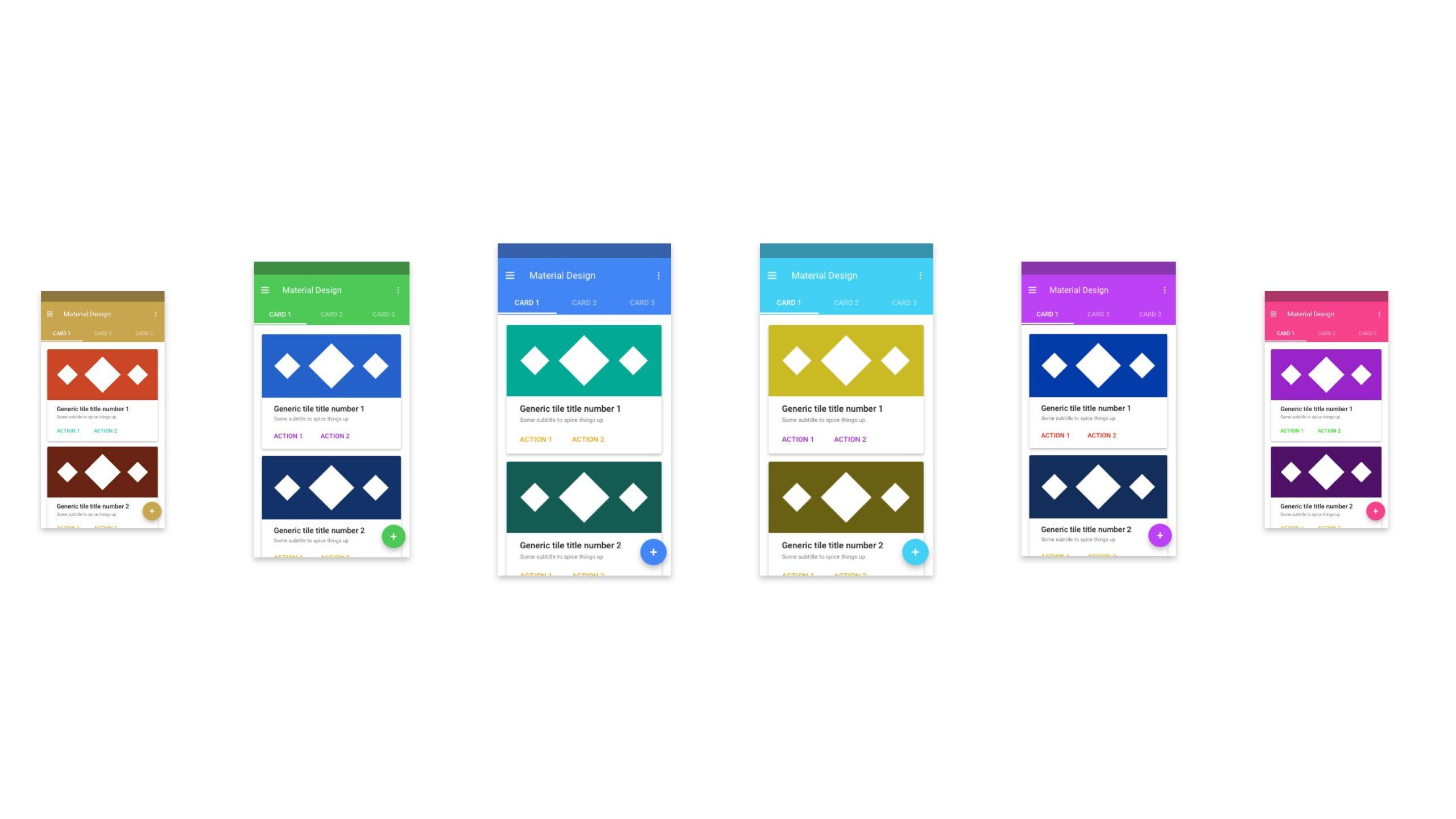 Material Design - Standard UI